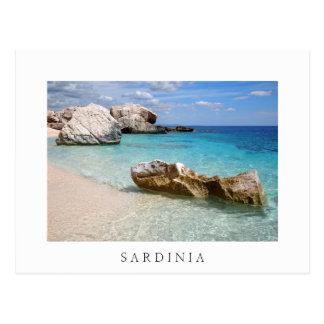 Cala Mariolu beach, Sardinia white border postcard