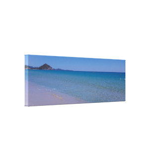 Cala sinzias beach sardinia canvas print