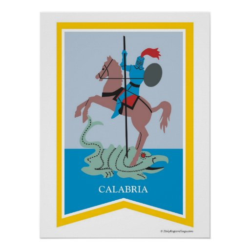 Calabria Italy Region Art Poster