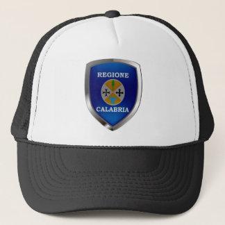 Calabria Mettalic Emblem Trucker Hat