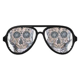 Calaca Dia de los Muertos Aviator Sunglasses