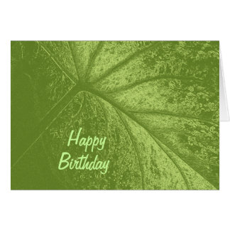Caladium Leaf birthday greeting Greeting Card