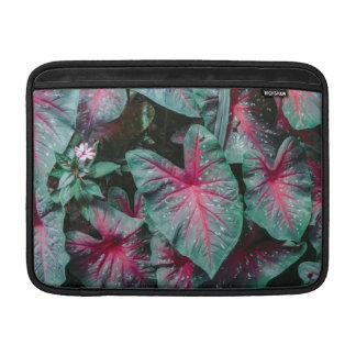 Caladium Leaf Pattern MacBook Sleeve