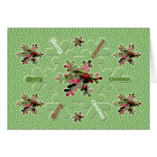 Caladium Merry Christmas Card