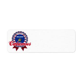 Calamus, WI Return Address Label