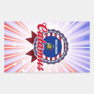 Calamus, WI Rectangle Sticker