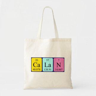 Calan periodic table name tote bag