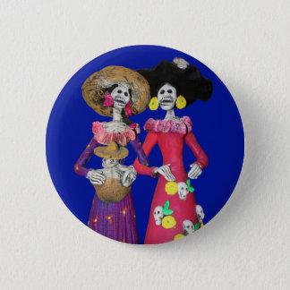 Calavera Amigas 6 Cm Round Badge