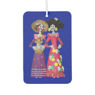 Calavera Amigas Car Air Freshener