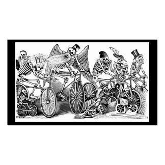 Calavera Bicyclists circa late 1800 s Mexico Business Card Template