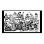 Calavera Bicyclists circa late 1800's Mexico Business Card Template