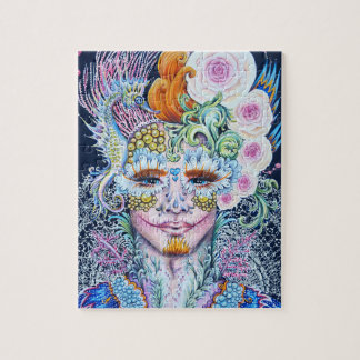 Calavera boy with seahorse and roses jigsaw puzzle