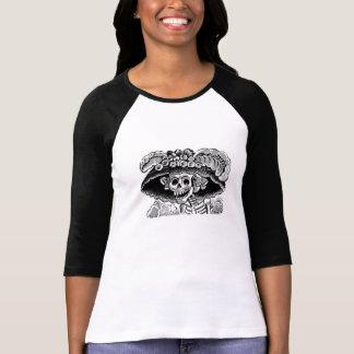 Calavera Catrina Ladies 3/4 sleeve Raglan t-shirt