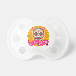 Calavera. Day of the Dead Mexican Sugar Skull Pacifiers