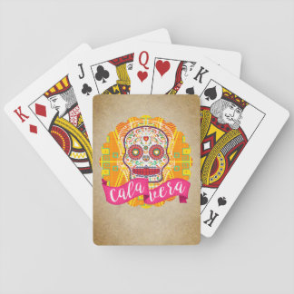 Calavera. Day of the Dead Mexican Sugar Skull Playing Cards
