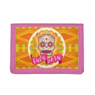 Calavera. Day of the Dead Mexican Sugar Skull Trifold Wallet