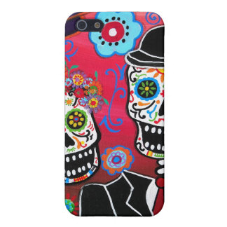 calavera DIA DE LOS MUERTOS couple Case For The iPhone 5