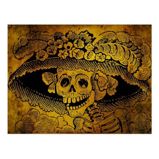 Calavera Garbancera by José Guadalupe Posada Postcard