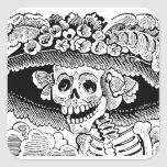Calavera Garbancera (Catrina) by José Posada Square Stickers