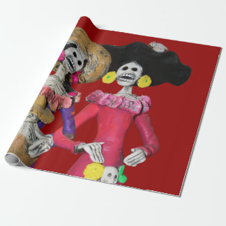 Calavera Hermanas Wrapping Paper