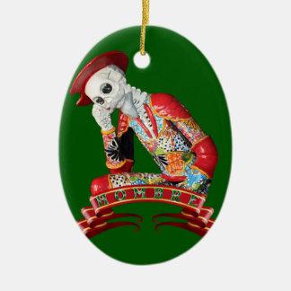 Calavera Hombre Ceramic Ornament