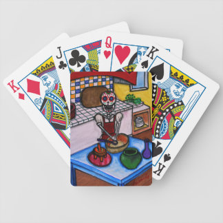 CALAVERA LA COCINERA LA JEFA PAINTING BICYCLE PLAYING CARDS