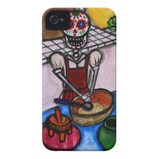 CALAVERA LA COCINERA LA JEFA PAINTING iPhone 4 CASES
