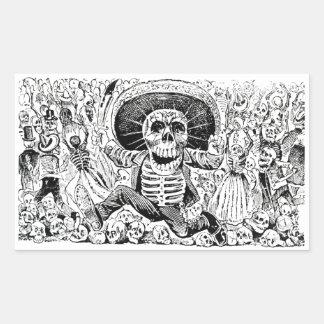 Calavera Oaxaqueña by José Guadalupe Posada 1903 Rectangular Sticker
