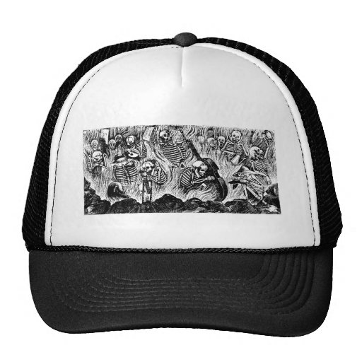 Calavera of Artists and Artisans c. 1900s Mexico Trucker Hat
