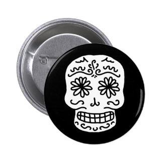 Calavera Sugar Skull 6 Cm Round Badge