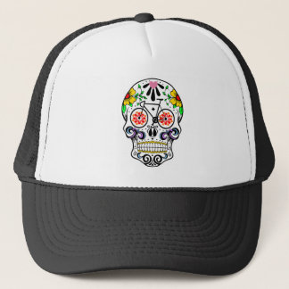 Calavera - Sugar Skull Bike Trucker Hat