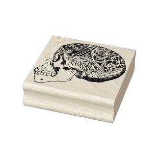 Calavera sugar skull illustration art stamp