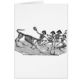Calaveras at the Running of the Bulls c. 1800's Card
