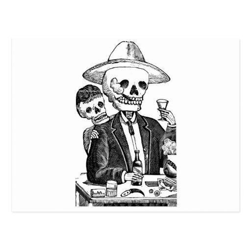 Calaveras from Guadalajara, Mexico Post Card