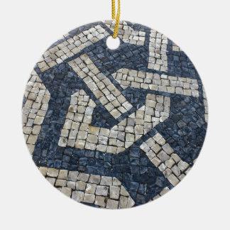 Calcada Portuguese, Portuguese Pavement Round Ceramic Decoration