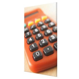 Calculator Stretched Canvas Print