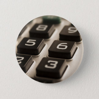 """Calculator Close-Up"" 6 Cm Round Badge"
