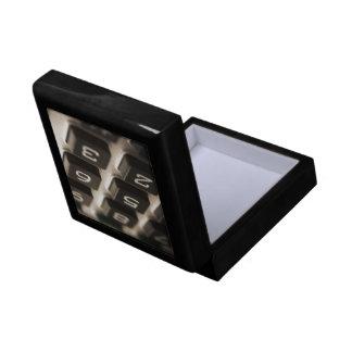 """""""Calculator Close-Up"""" Small Square Gift Box"""