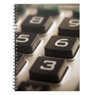 """Calculator Close-Up"" Spiral Notebook"
