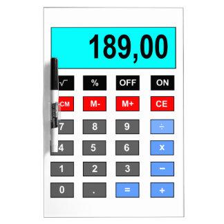 calculator dry erase boards