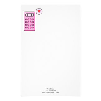 Calculator Love Personalised Stationery