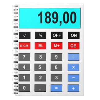calculator spiral note books