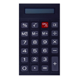 calculator pack of standard business cards