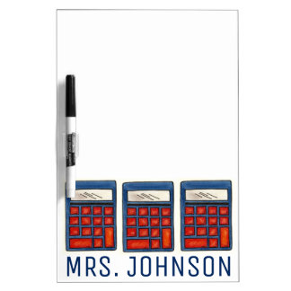 Calculator Personalized School Math Teacher Gift Dry Erase Boards