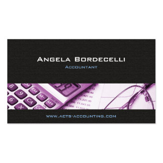 Calculator Purple Accounting Business Card