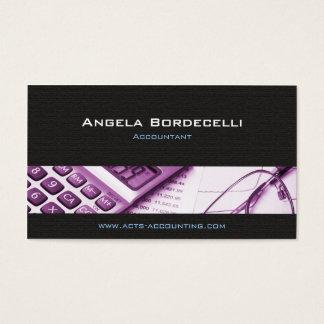 Calculator Purple Accounting Business Card