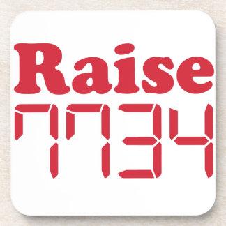 "Calculator words -  ""Raise Hell"" Beverage Coasters"
