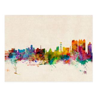 Calcutta (Kolkata) India Skyline Postcard