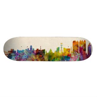 Calcutta Kolkata India Skyline Skate Board Deck