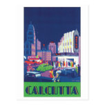 Calcutta Vintage Travel Poster Postcards